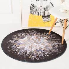 Diameter 100CM Creative Round Floor Mat Carpet Bedroom Circular Carpets Computer Chair Mats Pads Living Room Non-slip Sofa Tea Table Mat