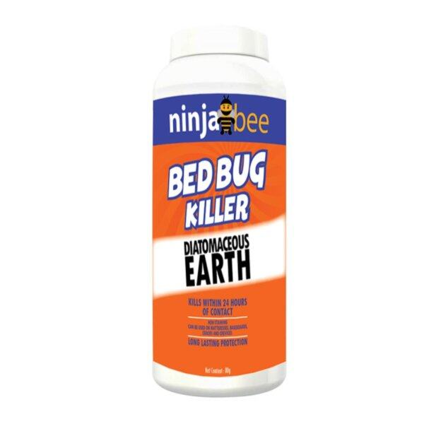 Diatomaceous Earth, Ninja Bee Bed Bug and Crawling Insect Killer Food Grade - 80 gram