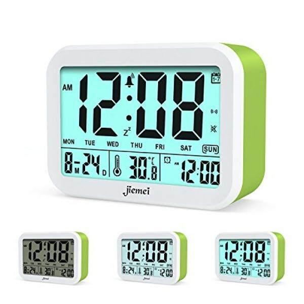 Jam Alarm Digital, Jiemei Talking Alarm Jam untuk Anak-anak dan Orang Dewasa, Dioperasikan, 4.5 Tampilan, pintar Lampu Latar, 3 Alarm, 7 Cincin, Pilihan Hadiah Yang Bagus (Hijau)-Internasional