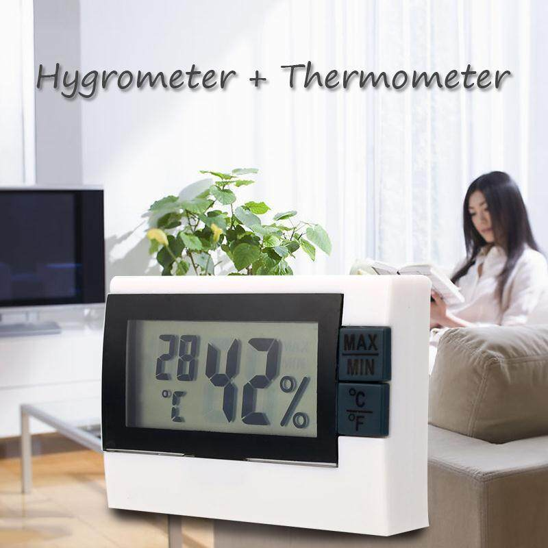 Digital Display Indoor Home Room Thermometer Thermo Hygrometer Max Min