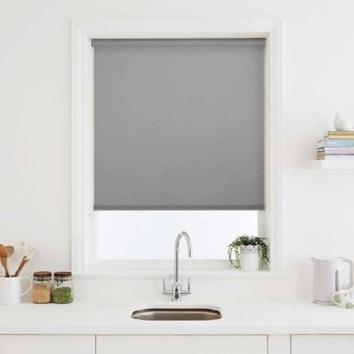diy blackout roller blind roll up curtain with uv coating. Black Bedroom Furniture Sets. Home Design Ideas