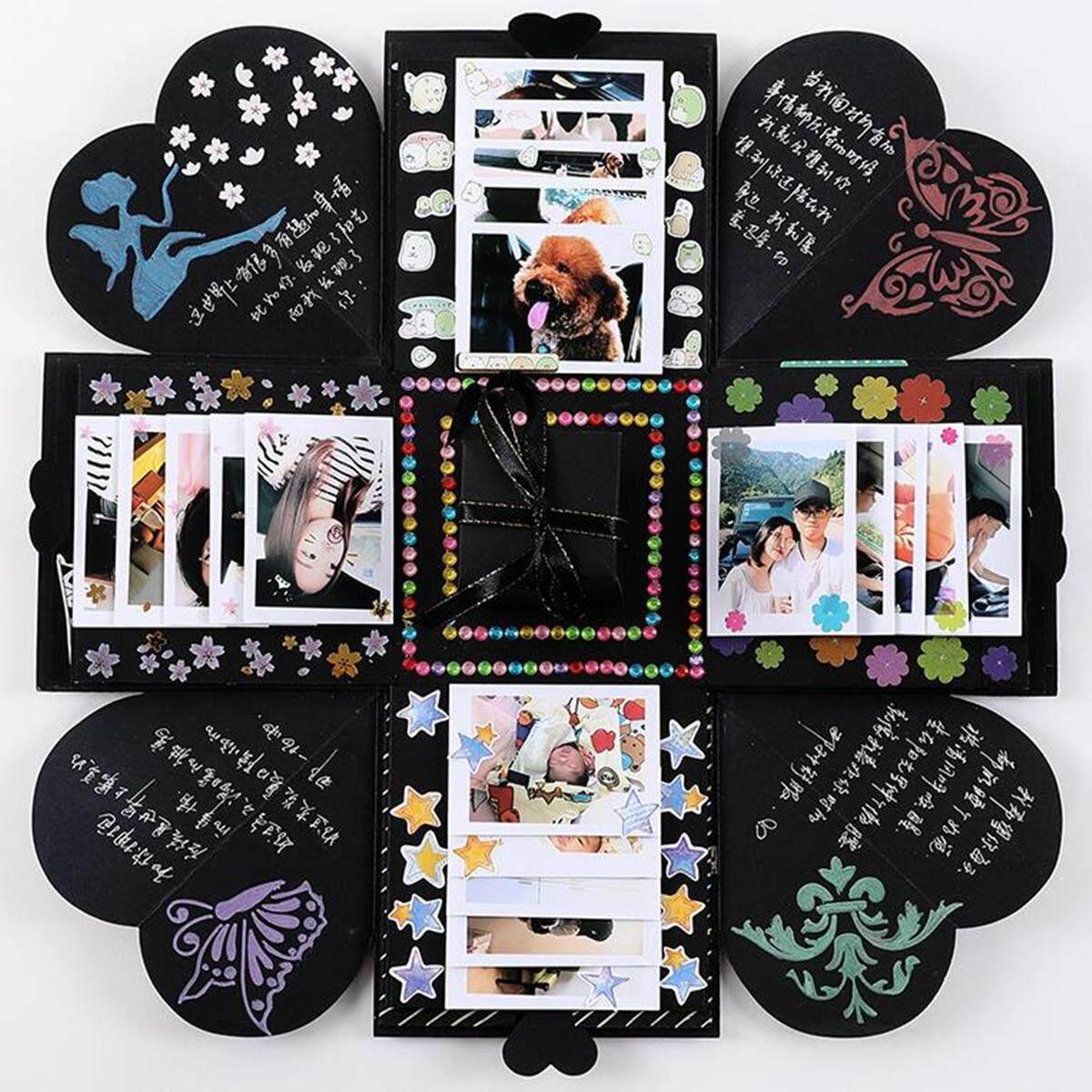 Review Diy Explosion Box Memory Scrapbook Photo Album Craft Kits Anniversary Gift Party Intl China