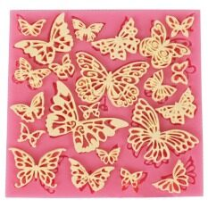 MYR 18. DIY Flower Butterfly Silicone Lace Mat Cupcake Fondant Molds Gumpaste Chocolate Moulds Sugarcraft Cake Decorating ...