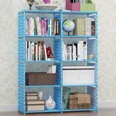 DIY Free Combination Shelf Non Wovens Kids Book Storage Rack Simple Bookcase Bookshelf H