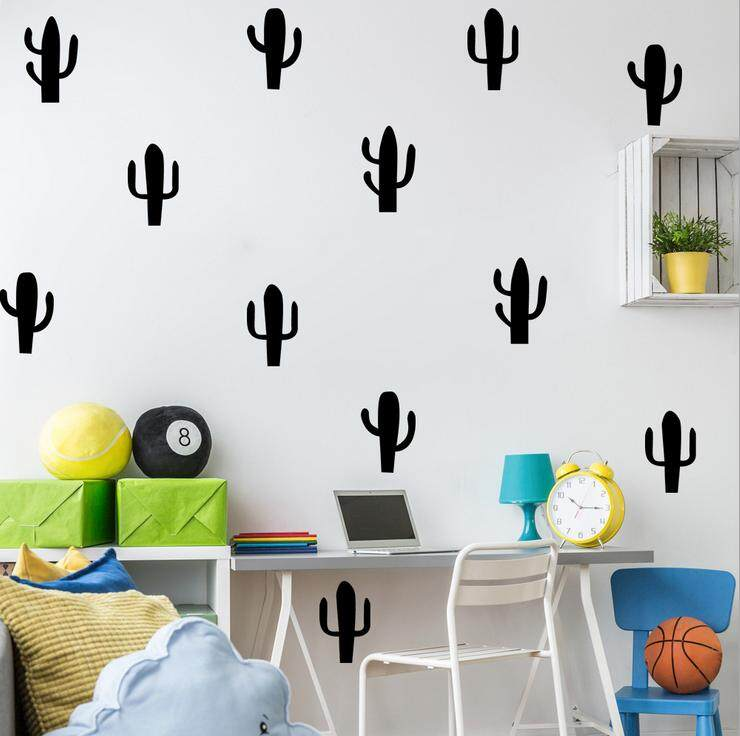 DIY Wall Simple And Creative Multi Style Cactus Removable Wall Stickers    Intl