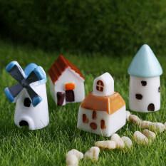 Diy Windmill House Mini Garden Plant Decor Micro Dollhouse Ornament 4pcs/set Multi By Jettingbuy.