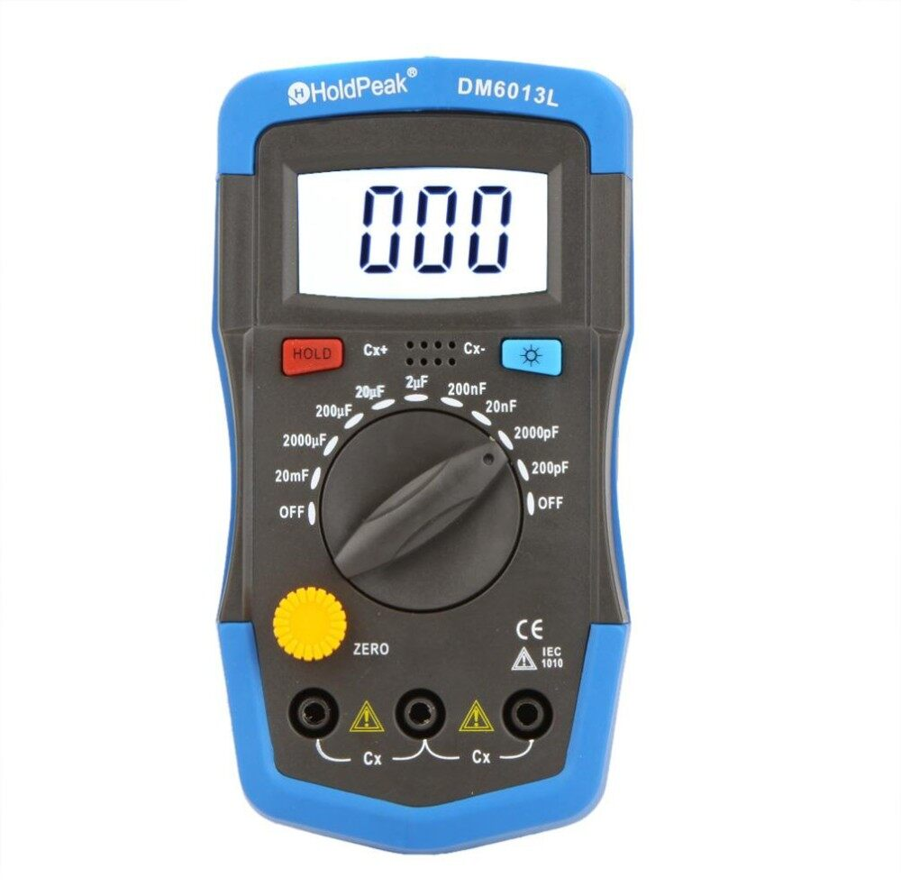 Features M6013 High Precision Capacitor Meter Professional Measuring Capacitorcircuit Dm6013l Handheld Digital Capacitance W Lcd Backlight Blue