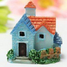 Mecola Dollhouse Miniatures DIY House villa Woodland fairy Planter garden home decor