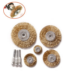 Dremel Accessories For Rotary Tools Wire Brush Power Polishing Head Of Hair Grinding Abrasive Brush For Mini Drill Dremel Tool