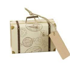 Hiqueen 10 Pcs/50 Pcs Koper Mini Kebahagiaan Kotak Permen Tas Permen untuk Bantuan Pernikahan