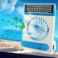 Dsstyles Portabel USB Mini Tenaga Surya Penggemar Ringan dengan LED dan Lampu Senter untuk Rumah Luar Ruangan Kemah