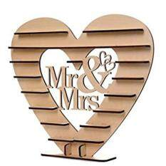 Wooden Mr & Mrs Heart Chocolate Display Tree Stand Wedding Centrepiece Decoration