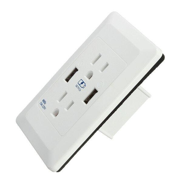 Trạm Sạc Tường USB Kép Bộ Chuyển Đổi Ổ Cắm Bảng Điều Khiển, Cung Cấp Điện, Outle