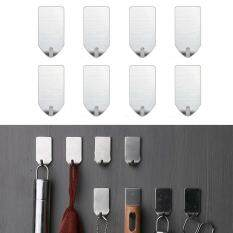 Durable Mini Strong 8PCs Hooks Without Drilling Stainless Steel Wall Mounted