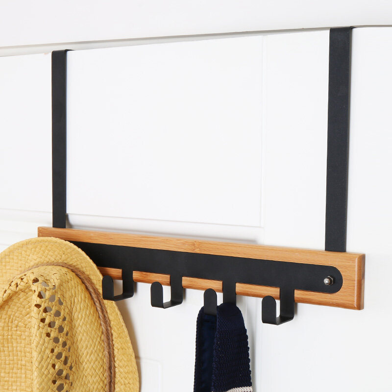 Easy to age-free nail creative hanging clothes rack door after Hook