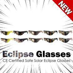 Eclipse Glasses - CE Certified Safe Solar Eclipse Glasses – 10pcs Assorted- Eye Protection