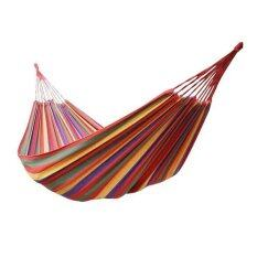 Ecosport 280x100cm Extra Large Canvas High Strength Swing Hammock (multicolor) + Carry Bag By Florasun.