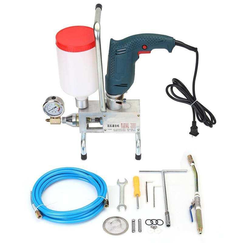 Electric Injection Piston Pump Polyurethane Foam Grouting Leak Steel Machine  ()