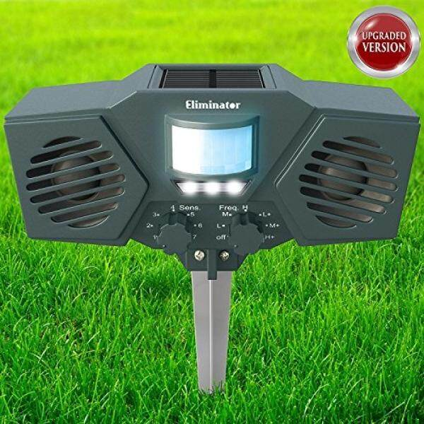 Top Rated Eliminator Advanced Electric Solar Outdoor Animal And Rodent Pest Repeller For Deer Dogs Cats Birds Etc Upgraded Version
