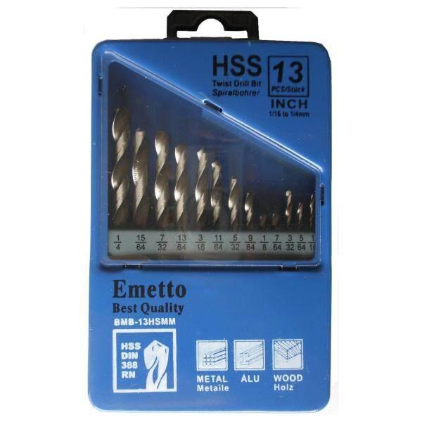 Emetto 13pcs Inches Drill Bit Set