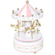 Epoch New Wooden Merry-Go-Round Carousel Music Box For Kids Wedding Gift Toy