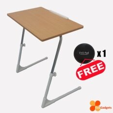 Ergonomic Adjustable Table / Foldable Table / Notebook Table (standard Model -Beige/light Brown) By Evogadgets.