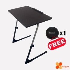 Ergonomic Adjustable Table, Folding, Foldable, Computer, Notebook Table (standard Model - Dark Brown / Wenge) By Evogadgets.