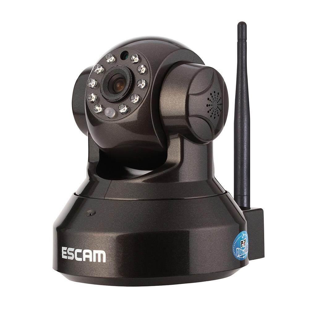 Escam Pearl QF100 Penglihatan Malam Infrared Pan/Tilt Nirkabel Ip Keamanan Kamera 720 P Hisilicon 3518E Chipset P2P Cloud Penahan dan Penyimpanan 32 GB micro Kartu SD (US Plug) -Intl