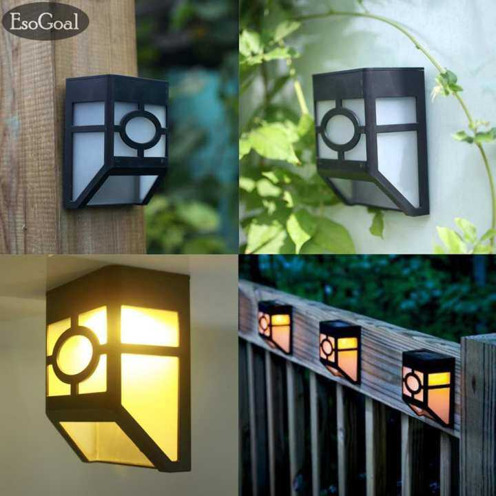 Outside Lights Daylight Or Soft White: EsoGoal Solar Powered Lights For House Outdoor Landscape