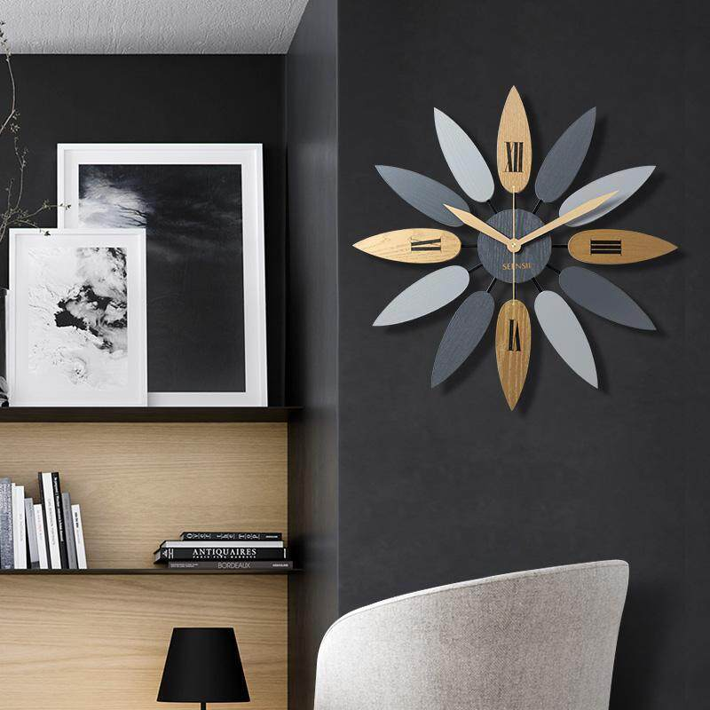 Eropa Jam Dinding Kreatif Ruang Keluarga Modern Sederhana Homeelectronic Jam Jam Kamar Tidur Gaya Mediterania 52