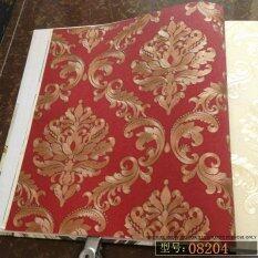 European style fashion wallpaper - Dimensional reflective damascus large flower wallpaper