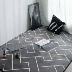 European Style Living Room Carpets Rugs Geometric Sofa Mat Non-slip Tea Table Mats Bedroom Carpet Tatami Mat Baby Crawling Mats Pads 80*195cm