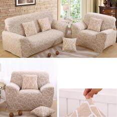 European Style Stretch Sectional Sofa Soft Slipcovers Elastic Couch Cover For Three Seats