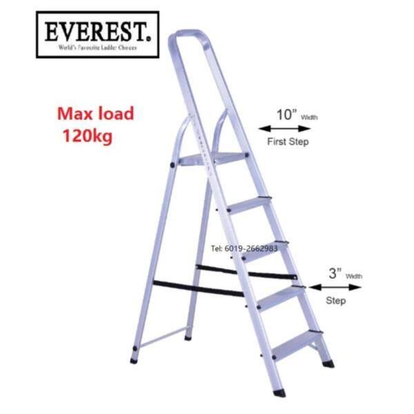 Everest 5 Steps AF03-5 Household Foldable Aluminium Ladder Tangga (Silver)