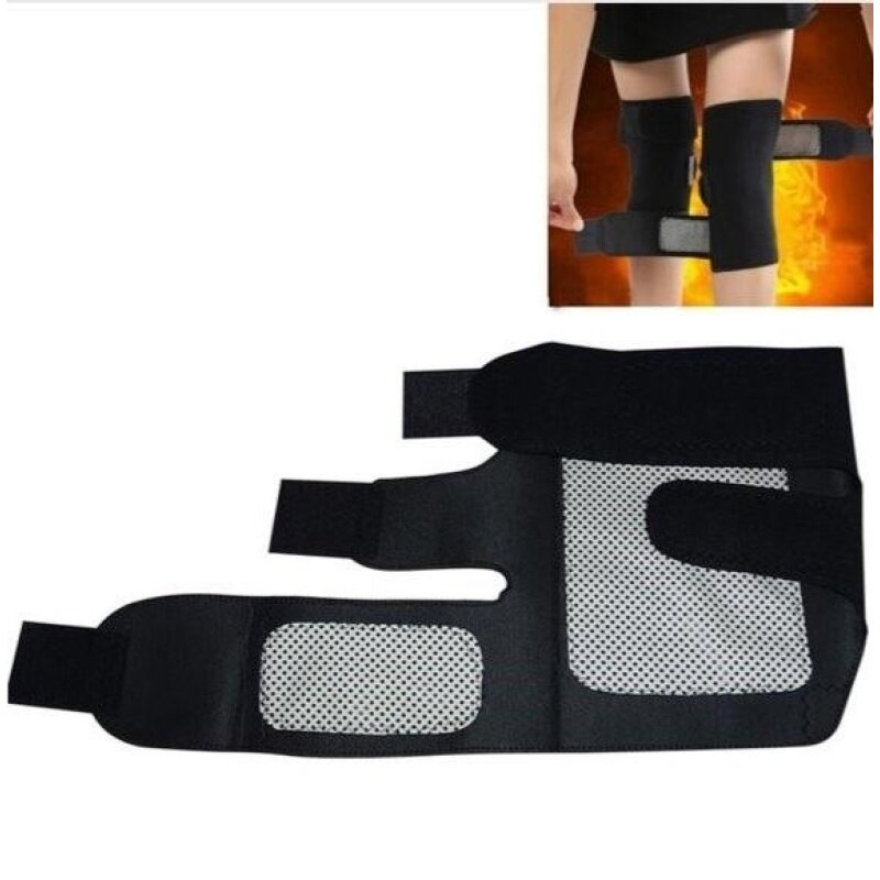 Extended Edition and Thicken Tourmaline Health Care Magnetic Therapy Self-heating Knee Pads Pads Support Knee Protection