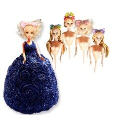 Fang Fang New 4pcs/set Doll Cake Mold Diy Doll Dress Sugarcraft Fondant Cake Decor Tool By Fangfang_719.