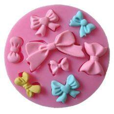 Fang Fang Bowknot Candy Molds 3D Silicone Cookie Cake Decor Mould Baking Pastry Tools