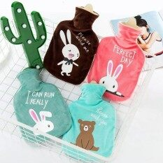 Fashion Water-Filling Big Hot Water Bag Cartoon Animals Plu Pocket Portable Hand Warmer Water Injection Hot Water Bottle 17.5*29Cm