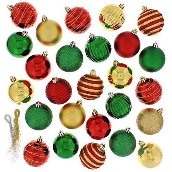 Meriah 100 Piece Aneka Bola Ornamen Natal, Multi-Internasional