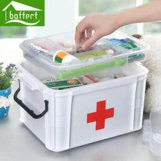 First Aid Kit Box Large Family Home Medicine Chest Cabinet Health Care Plastic Drug Storage Box 24x18x14cm