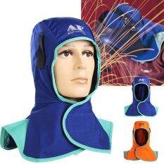 Chống Cháy An Toàn Mũ Bảo Hiểm Hàn Cổ Bảo Vệ Hood Hàn Mũ Đội Đầu Màu Cam