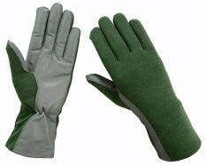 Flight Gloves Pilot Fire resistant Gloves Heat resistant Gloves(Green) s(Intl)