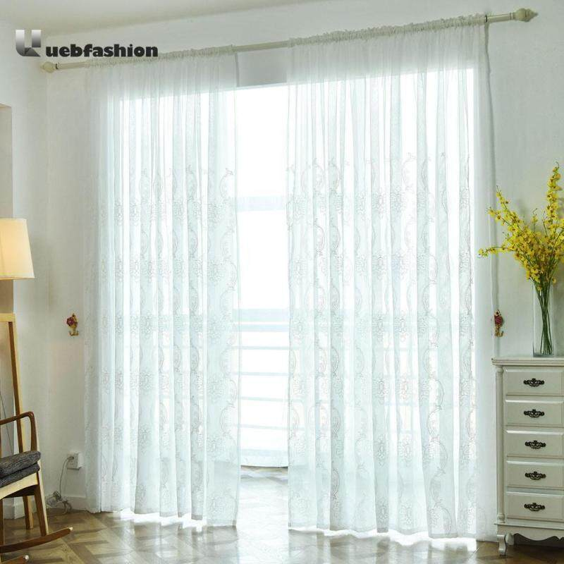 1pcs Flower Screen Yarn Window Curtains Bedroom Voile Curtain(Note:you may need 2pcs)