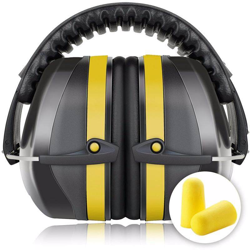 Fnova 34dB Highest NRR Safety Ear Muffs - Professional Ear Defenders for Shooting, Adjustable Headband Ear Protection / Shooting Hearing Protector Earmuffs Fits Adults to Kids (Yellow)