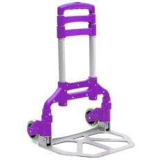 Foldable Hand Trolley Purple Heavy Duty 75KG Load (Purple)