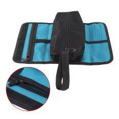 Foldable Professional Electricians Tool Storage Holder Roll Bag Convenient Organizer