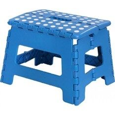 Foldable Stool For Kids And Adul - Blue - Lightweight Plastic Step Stool - 11-Inch Wide And About 8-Inch Tall - By Utopia Home