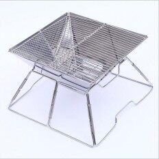 Folding stainless steel barbecue portable grill charcoal grill (delivery)