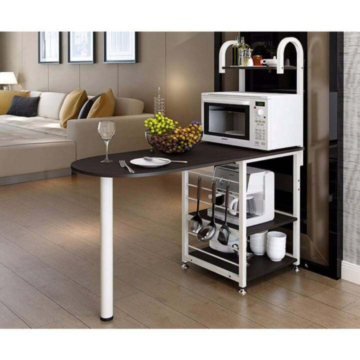 Kitchen Bar Dining Table: FOREVER Kitchen Storage Shelves With Table Bar/Dining