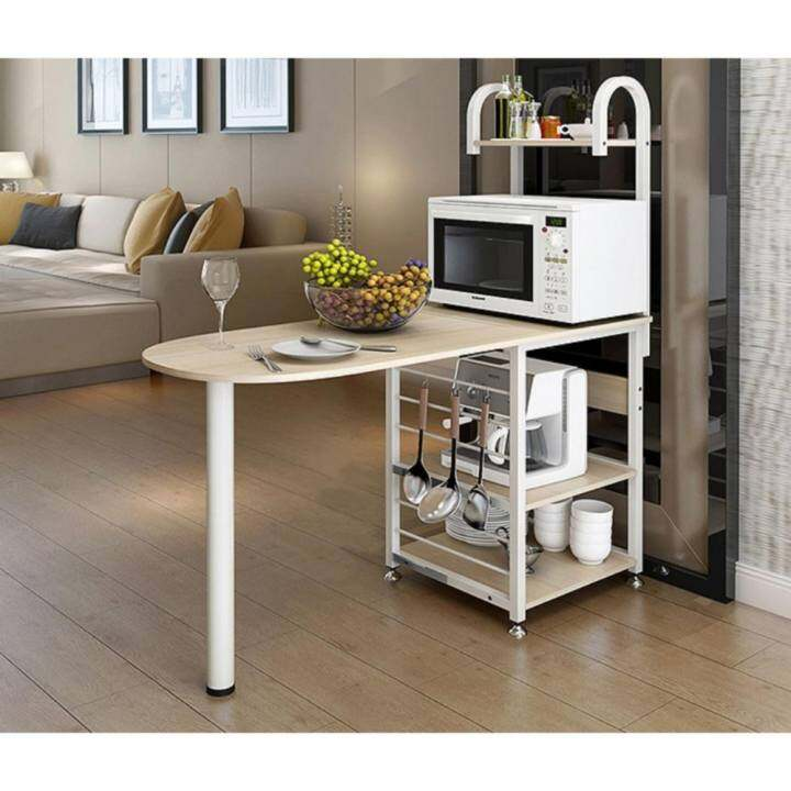 Kitchen Bar Table With Storage: FOREVER Kitchen Storage Shelves With Table Bar/Dining Table